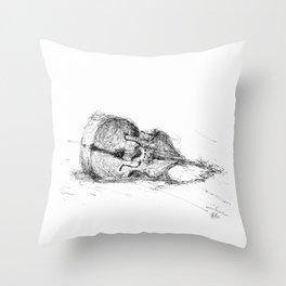 Contrabass resting Throw Pillow