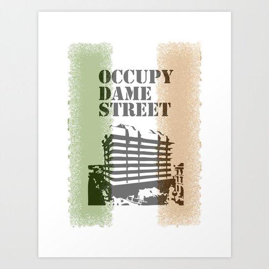 Occupy Dame Street Art Print