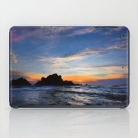 big sur iPad Cases featuring Big Sur sunset  by davehare