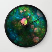 psychadelic Wall Clocks featuring Inner Space by Lyle Hatch