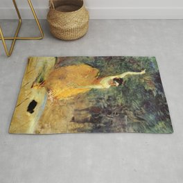 """Henri de Toulouse-Lautrec """"The Spanish Dancer"""" Rug"""