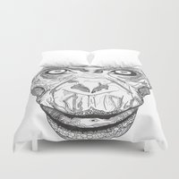 ape Duvet Covers featuring Ape by Eugene Lee