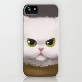 My White Cat iPhone Case