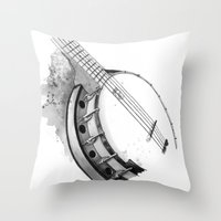 banjo Throw Pillows featuring Banjo by Ashley Silvernell Quick