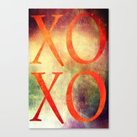 xoxo Canvas Prints featuring XoXo by Fine2art