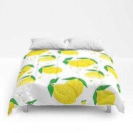 Big Lemon pattern Comforters