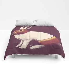 Lapin Catcheur (Rabbit Wrestler) Comforters