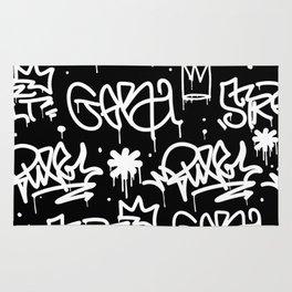 Black and White Graffiti Rug