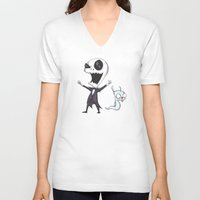 invader zim V-neck T-shirts featuring Invader Jack!  by Ludwig Van Bacon