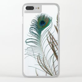 Peakock's Feathers Clear iPhone Case