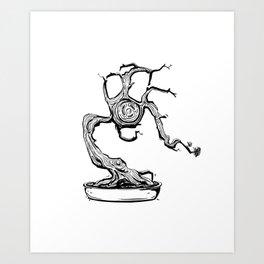gas mask bonsai Art Print