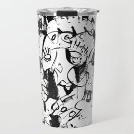 Caged Bird - b&w Travel Mug