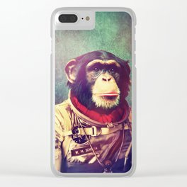 astro monkey Clear iPhone Case