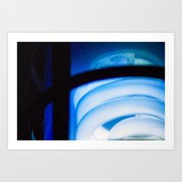 Blue Light District Art Print