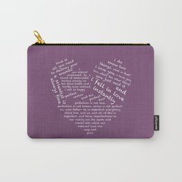 Quotes of the Heart - Cecilos (White) Carry-All Pouch
