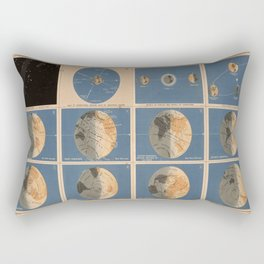 Vintage Axial Tilt of The Earth Chart & Diagram (1867) Rectangular Pillow