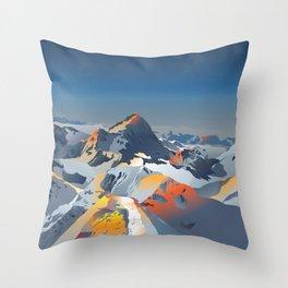 Beautiful Mountains Throw Pillow