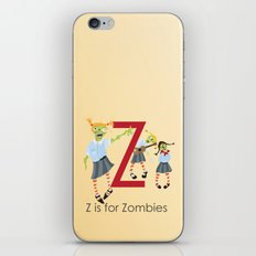 Z is for Zombies iPhone & iPod Skin