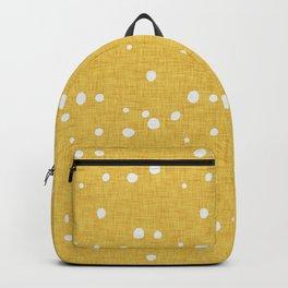 Modern Farm House Polka Dots Mustard Backpack