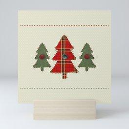 Country Christmas Trees Mini Art Print