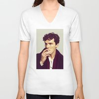 ben giles V-neck T-shirts featuring Ben by Grace Teaney Art
