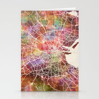 dublin Stationery Cards featuring Dublin map by MapMapMaps.Watercolors