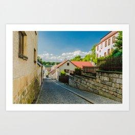 A street in Turnov Art Print