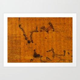 Map Of Rio De Janeiro 1807 Art Print