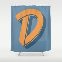 BOLD 'D' DROPCAP Shower Curtain