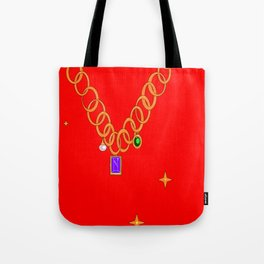 Necklace, bling, gems Tote Bag