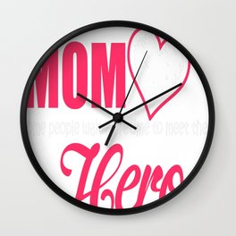 FIREFIGHTER MOM Wall Clock