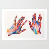 hands Art Prints featuring hands by Ania