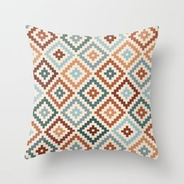 Aztec Block Symbol Ptn TCT Throw Pillow