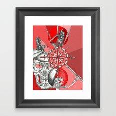 Red Samurai Reaper Framed Art Print