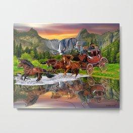 Wells Fargo Stagecoach Metal Print
