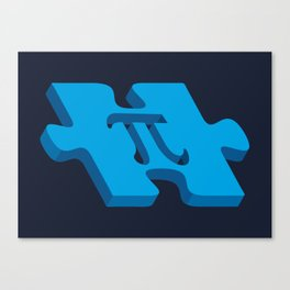 Pi puzzle Canvas Print