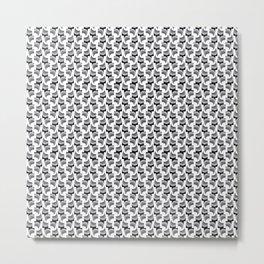 Blak & white convergence pattern Metal Print