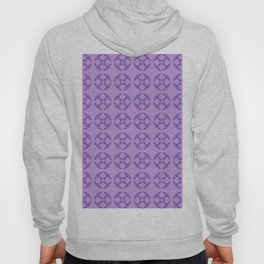 Art Deco Vintage Stylized Flowers Pattern 1 Purple Hoody
