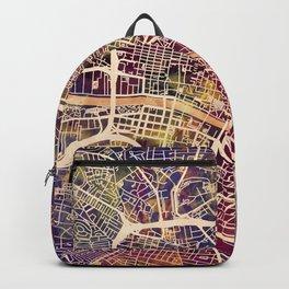 Glasgow City Scotland Street Map Backpack