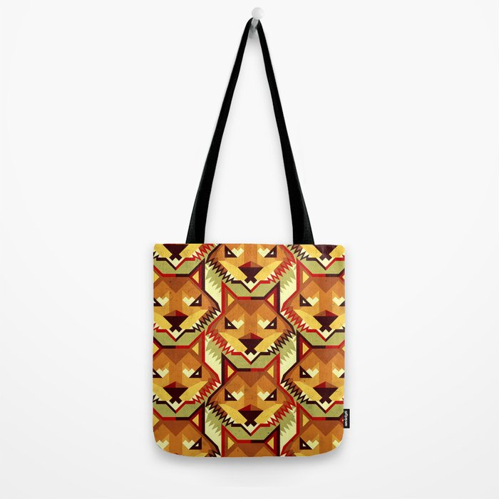 The Bold Wolf pattern Tote Bag