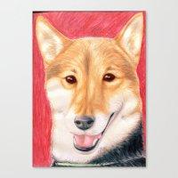 finn Canvas Prints featuring Finn by Meghann Smith