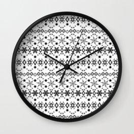 White black Christmas ornament white Wall Clock