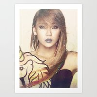 2ne1 Art Prints featuring 2NE1 CL by Margot Park