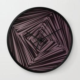 geometric optical illusion Wall Clock