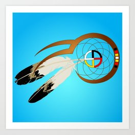 dreamcatcher blue Art Print