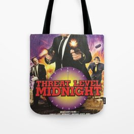 Geng Threat Level Midnight Poster Tote Bag