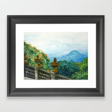 The View from La Cieba Grafica Framed Art Print