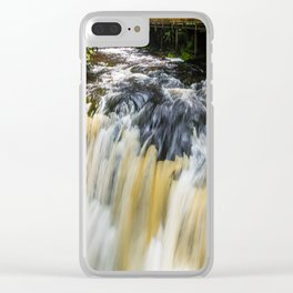 Blurred Lower Gorge Falls Clear iPhone Case