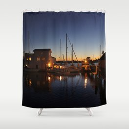When day turns into night Shower Curtain