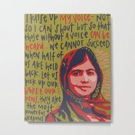 Malala Yousafzai. Metal Print